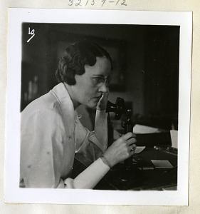 Image of Miss F. E. Lees (Mrs. Ueirich), October 1935