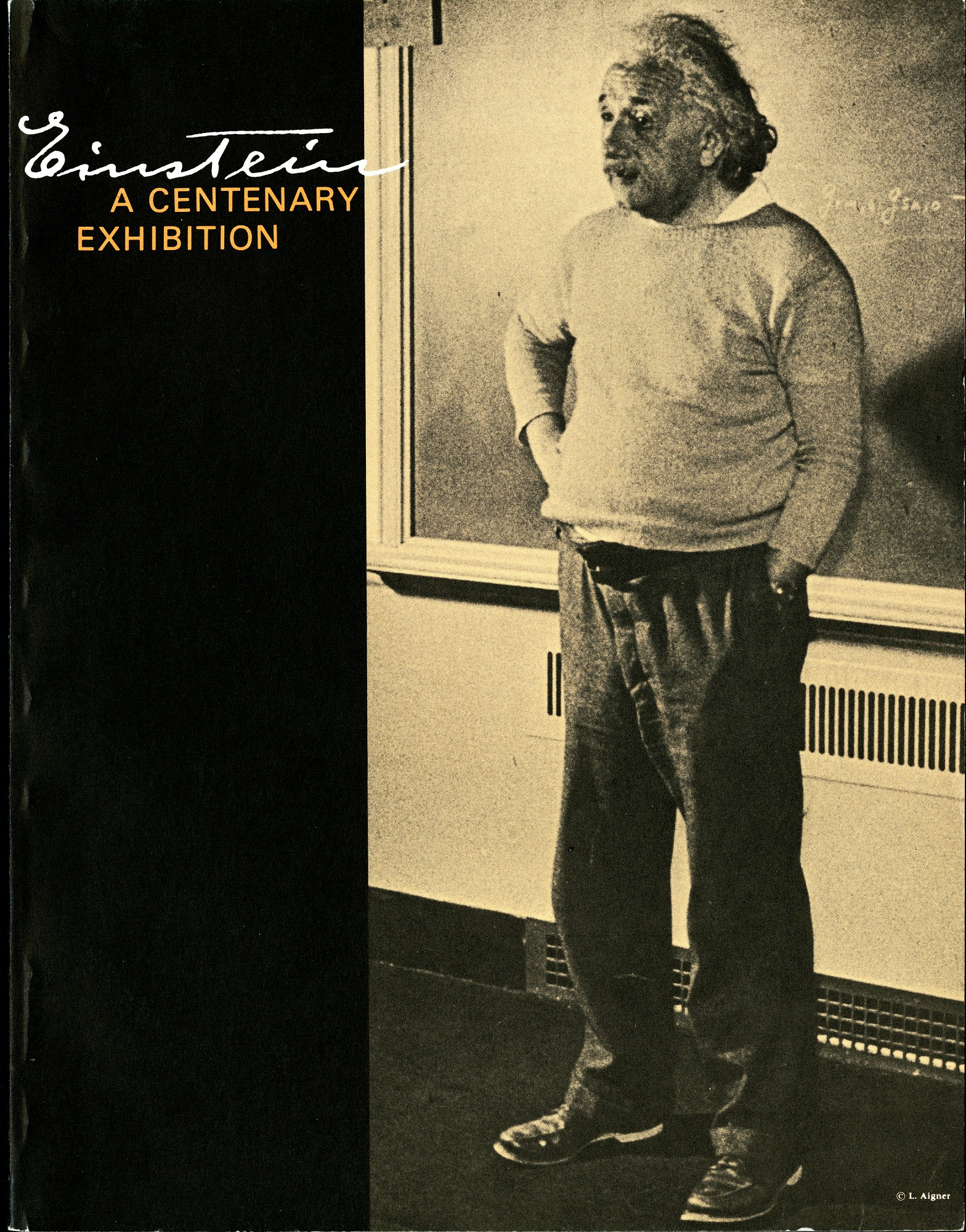 "Exhibition Brochure for ""Einstein: A Centenary Exhibition"""