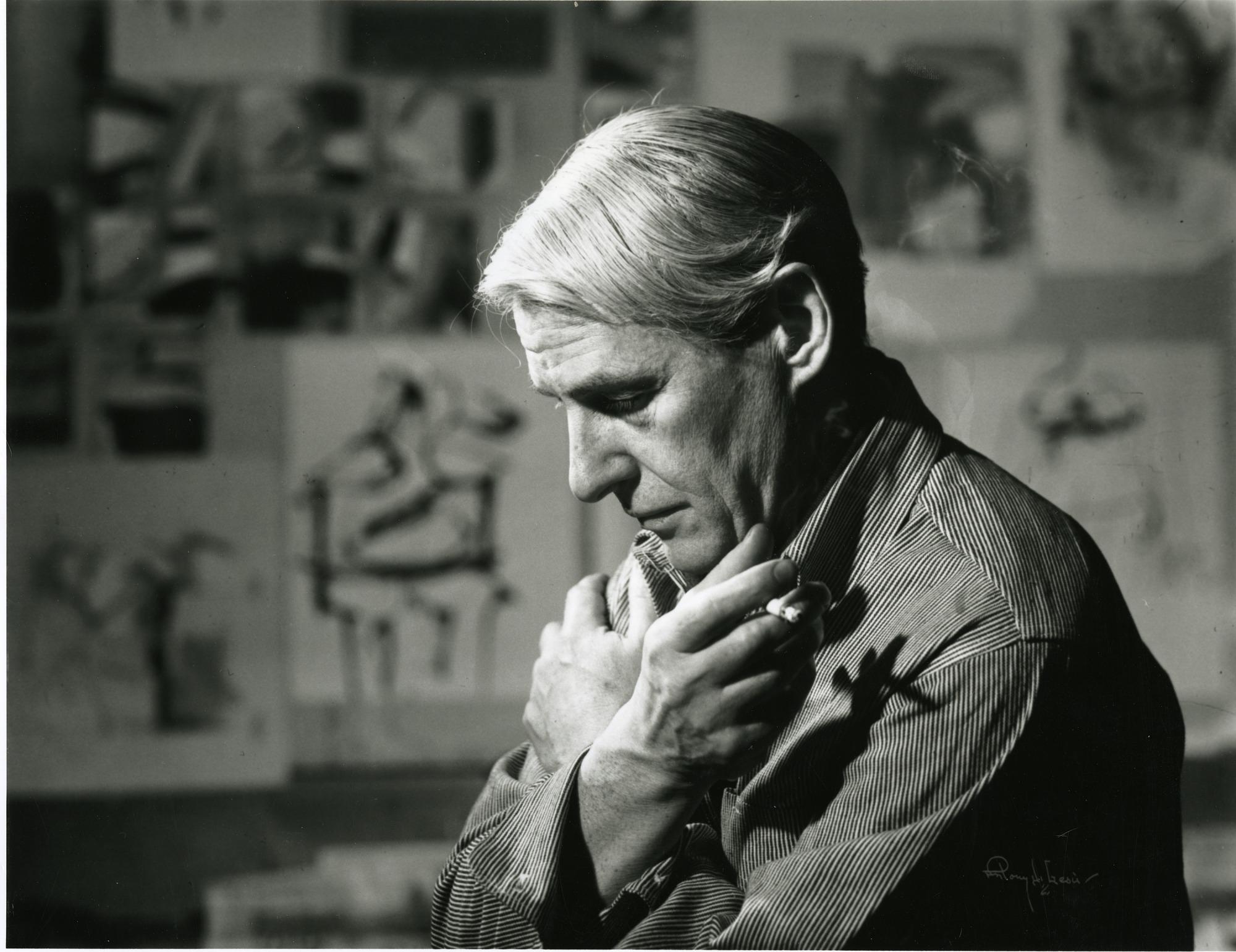 Willem de Kooning in His Studio