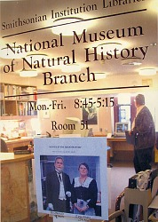 """""""Service in the Grand Manner"""" in the Front Window of the Natural History Library"""
