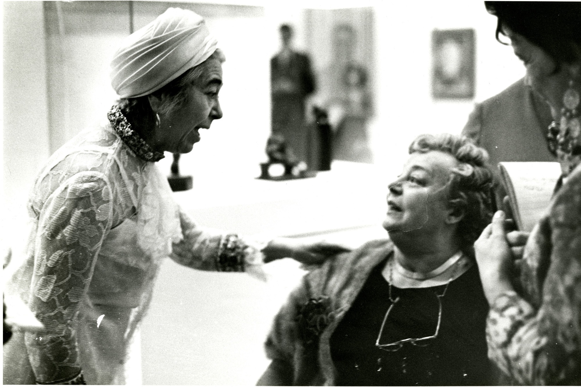 Edith Halpert and Mrs. Charles Sheeler at Opening of Sheeler Exhibit