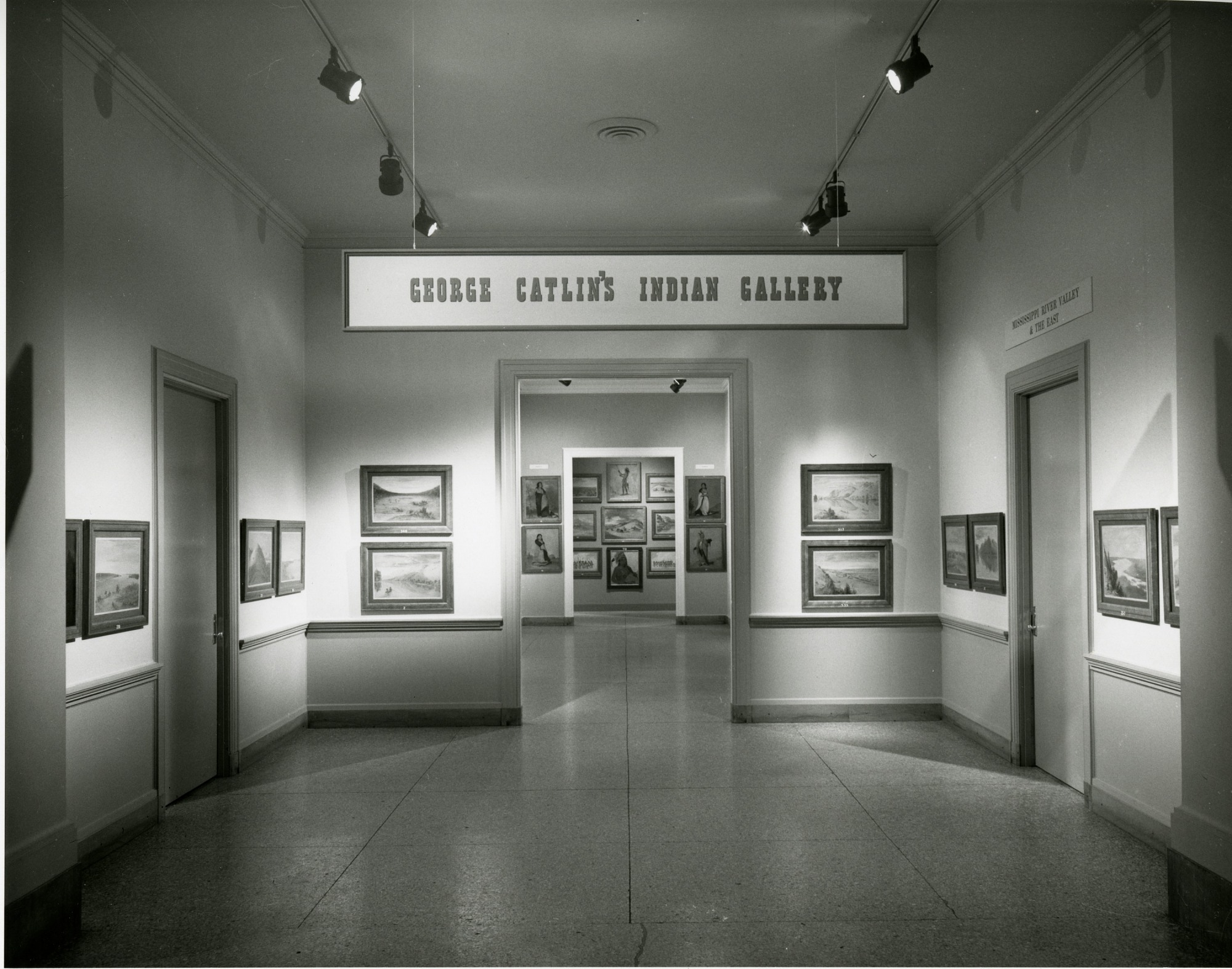 "Entrance to "" George Catlin's Indian Gallery"" in the National Collection of Fine Arts"