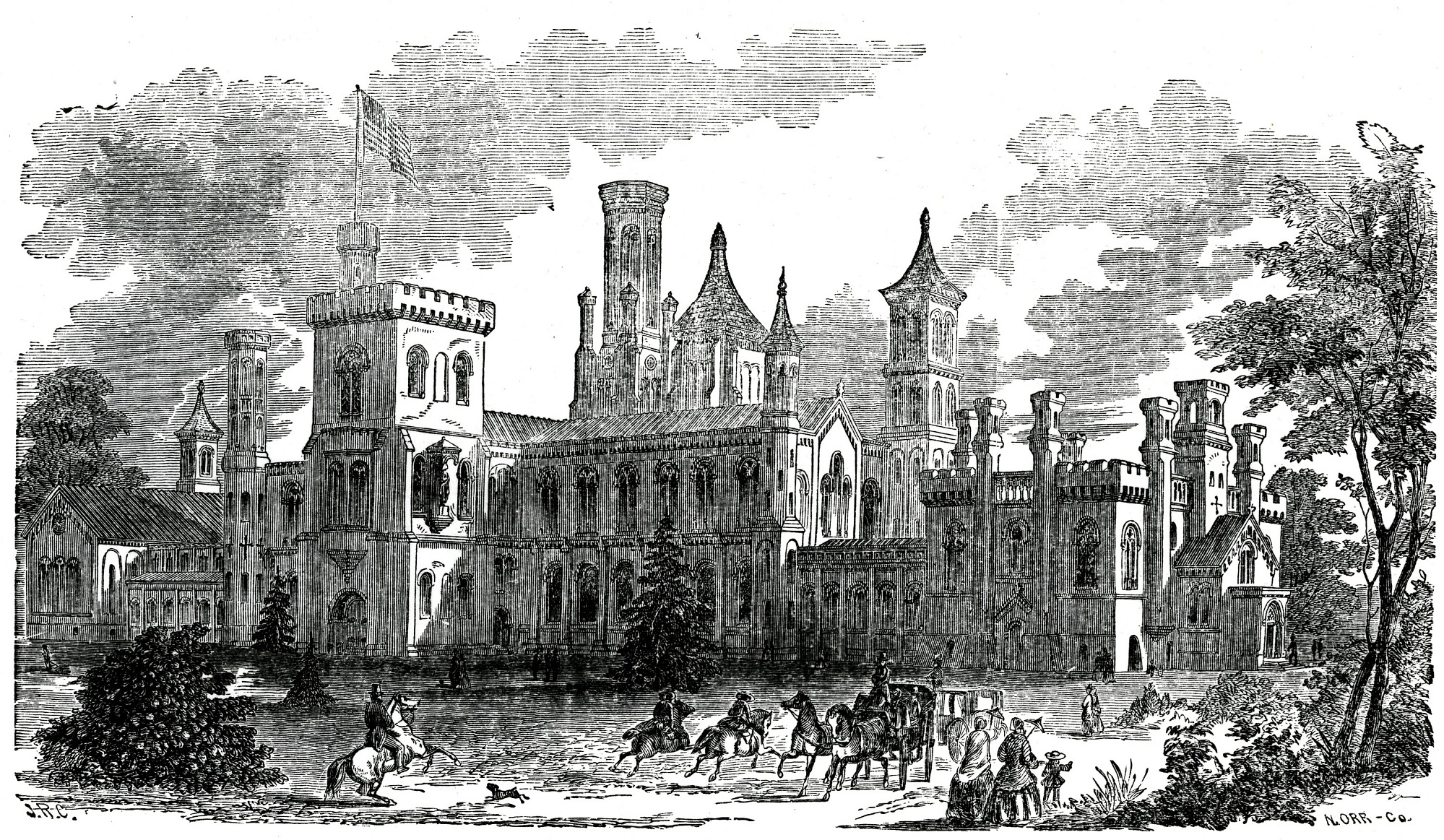 images for Smithsonian Institution Building, Southeast View