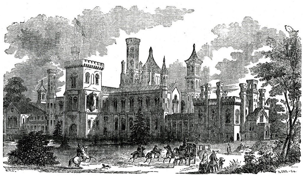 South Façade of Castle and South Yard, 1857