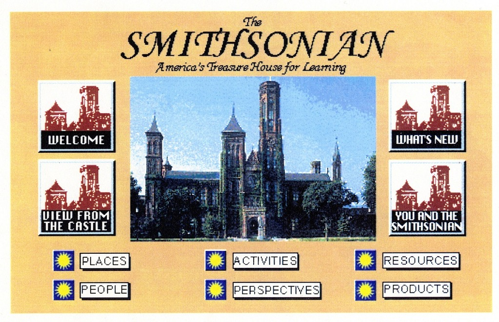 May 8 Home Page of the Smithsonian's First Website