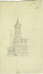 Smithsonian Institution Building, circa 1848