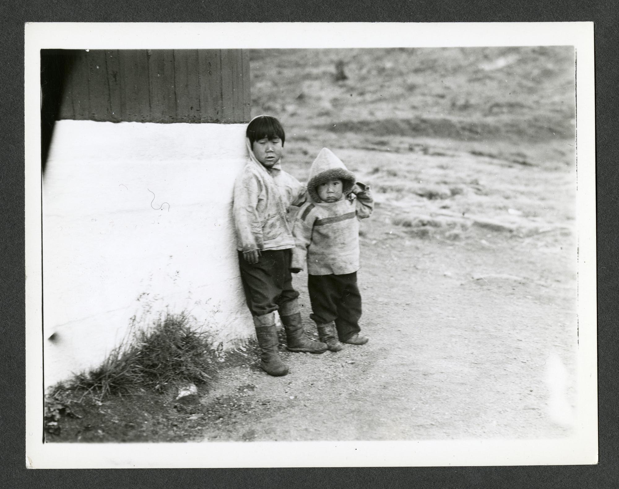 Indigenous children in Ammassalik [Tasiilaq], Greenland, 1936