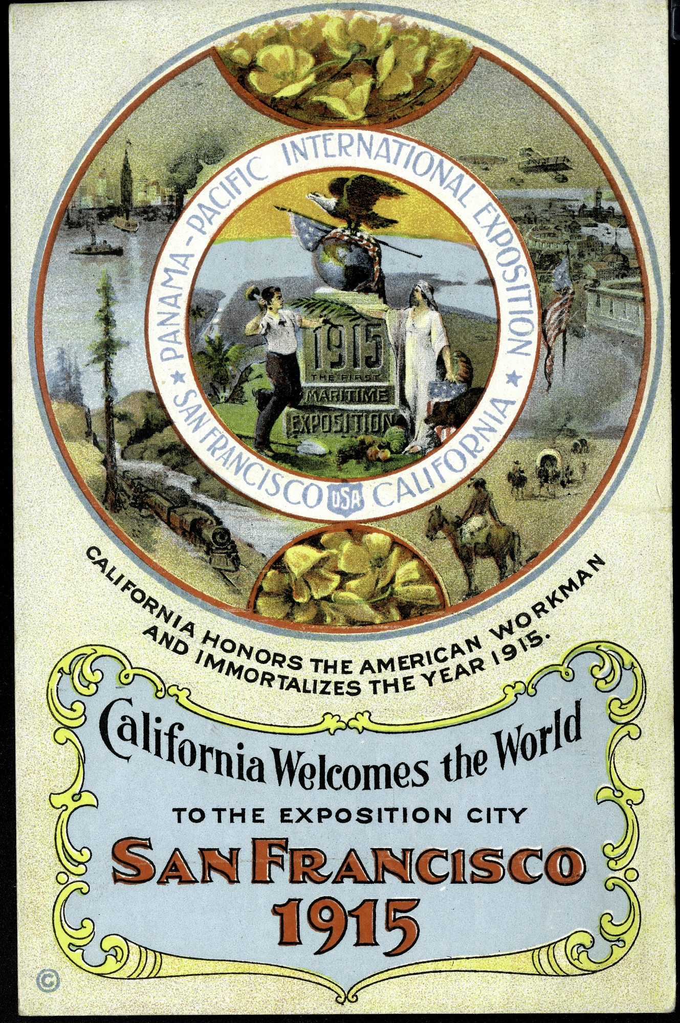 Workman Postcard from the Panama-Pacific Exposition