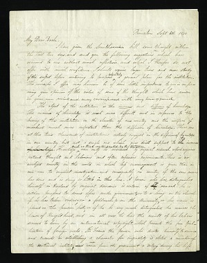 Joseph Henry's Letter to Alexander Dallas Bache (September 6, 1846)