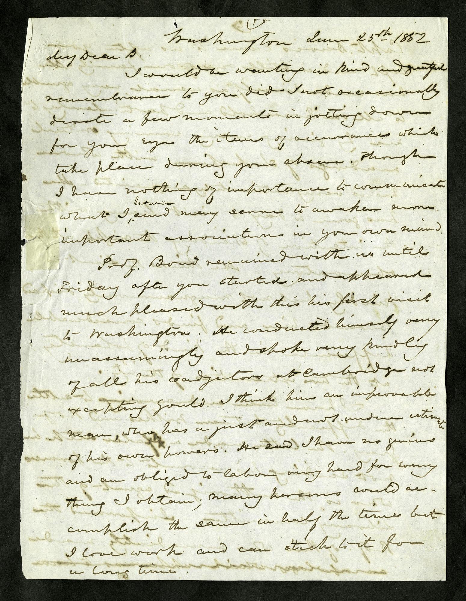 Joseph Henry's Letter to Alexander Dallas Bache (June 25 - July 9, 1852)
