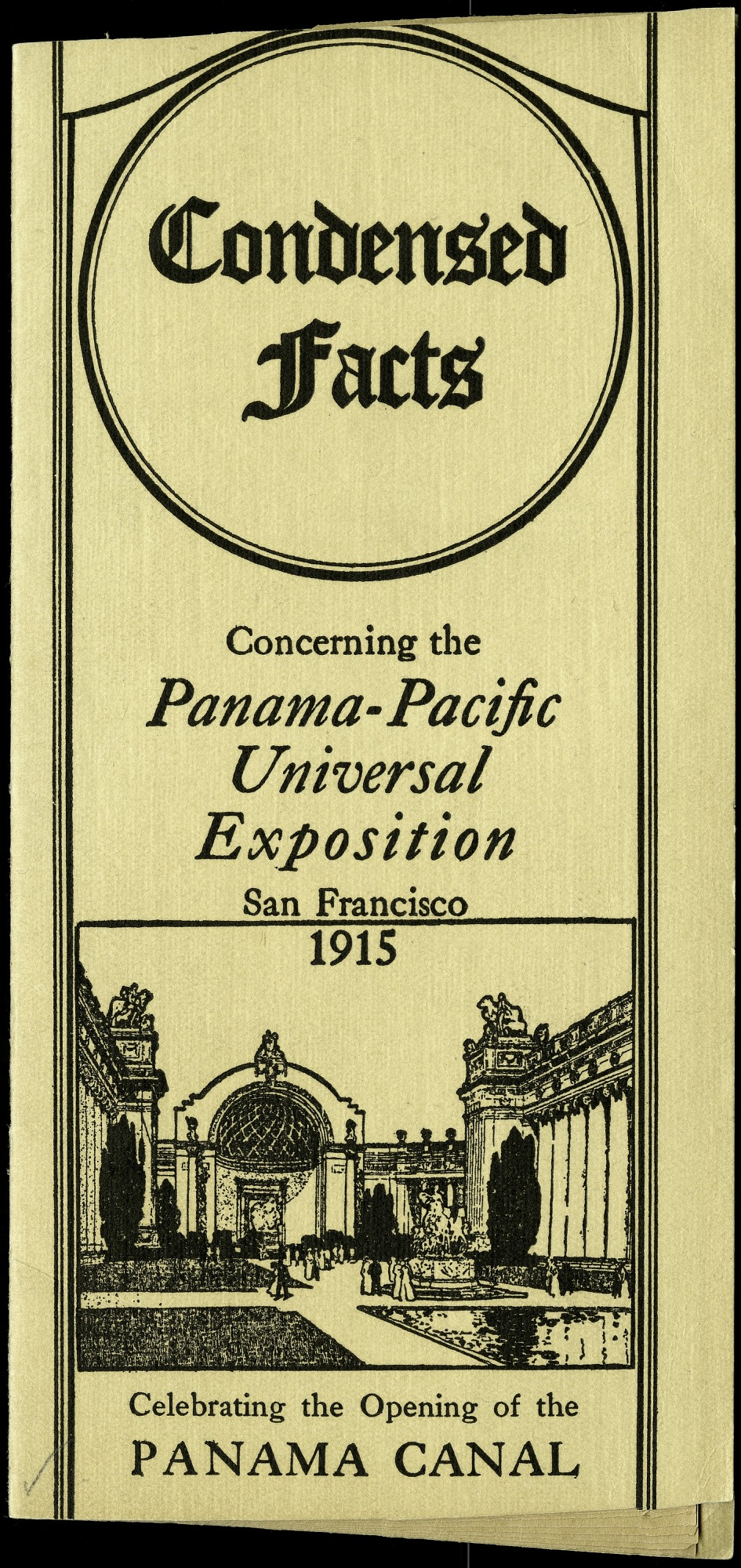 Brochure for the Panama-Pacific International Exposition