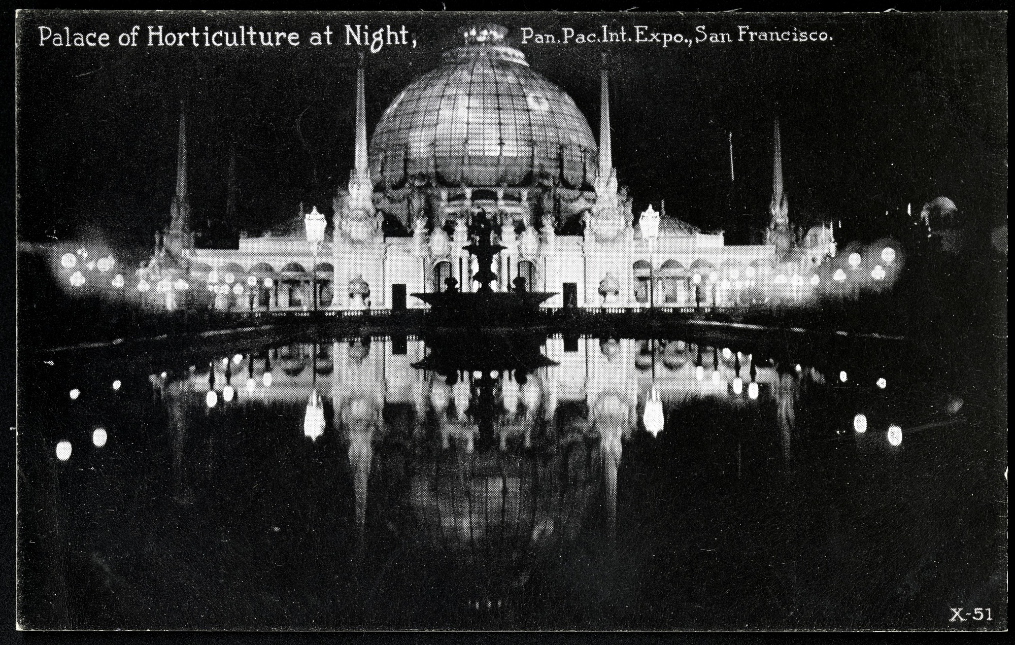 Palace of Horticulture Postcard from the Panama-Pacific Exposition