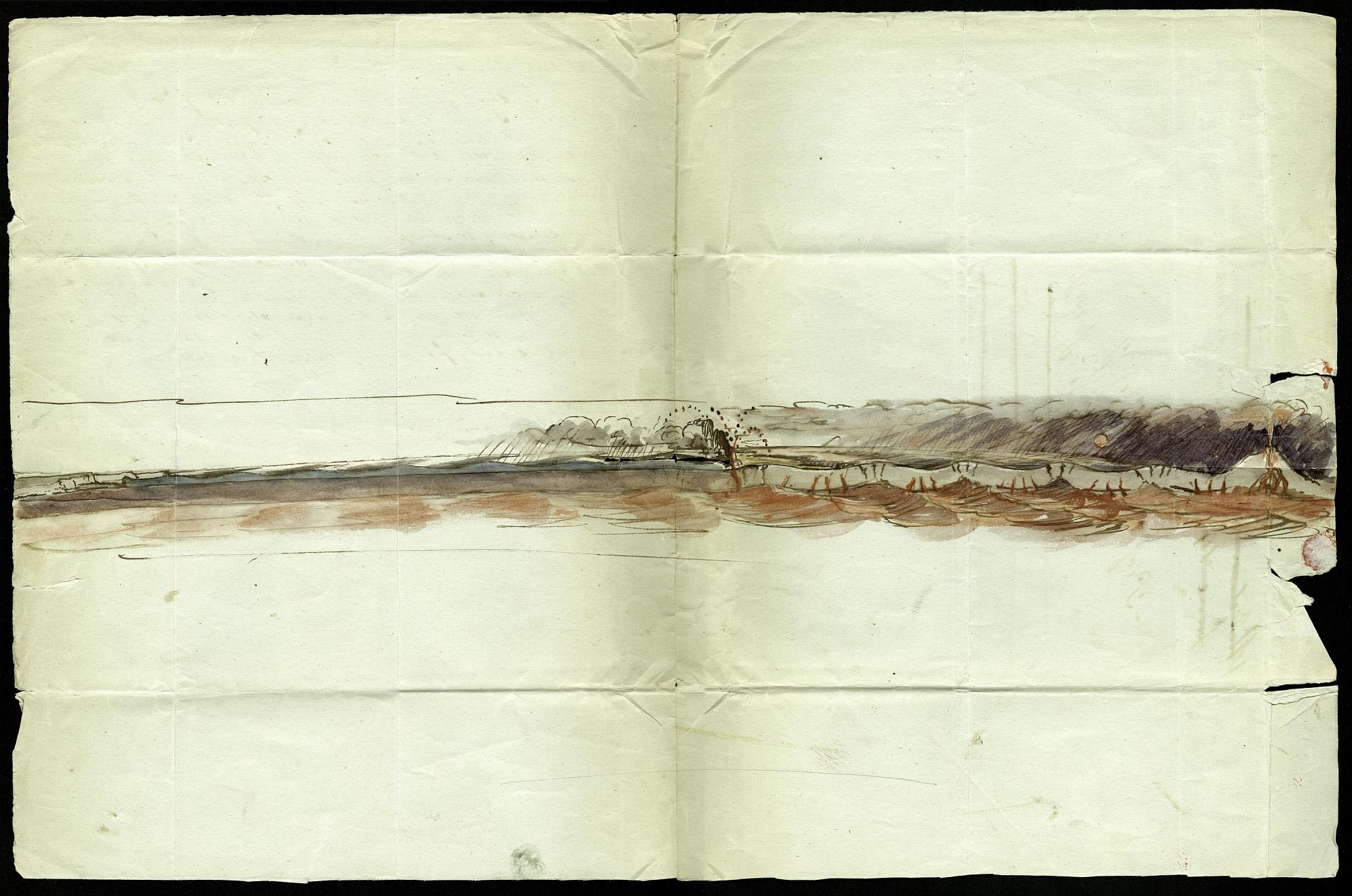 Chalk Drawing of an Earthquake