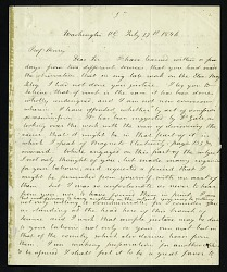 Alfred Vail's Letter to Joseph Henry (July 17, 1846)