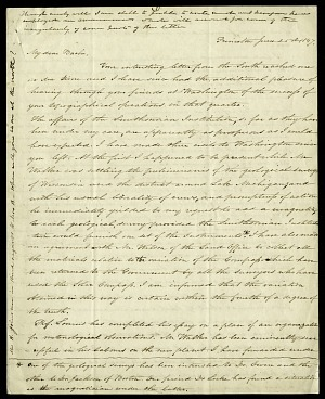 Joseph Henry's Letter to Alexander Dallas Bache (June 25, 1847)