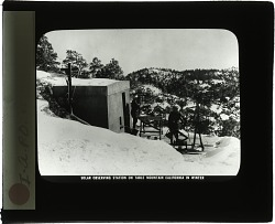 Solar Observing Station on Table Mountain California in Winter