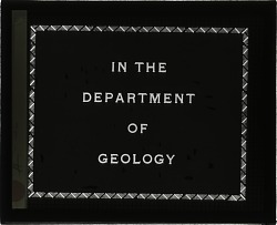 In the Department of Geology