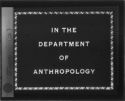 In the Department of Anthropology