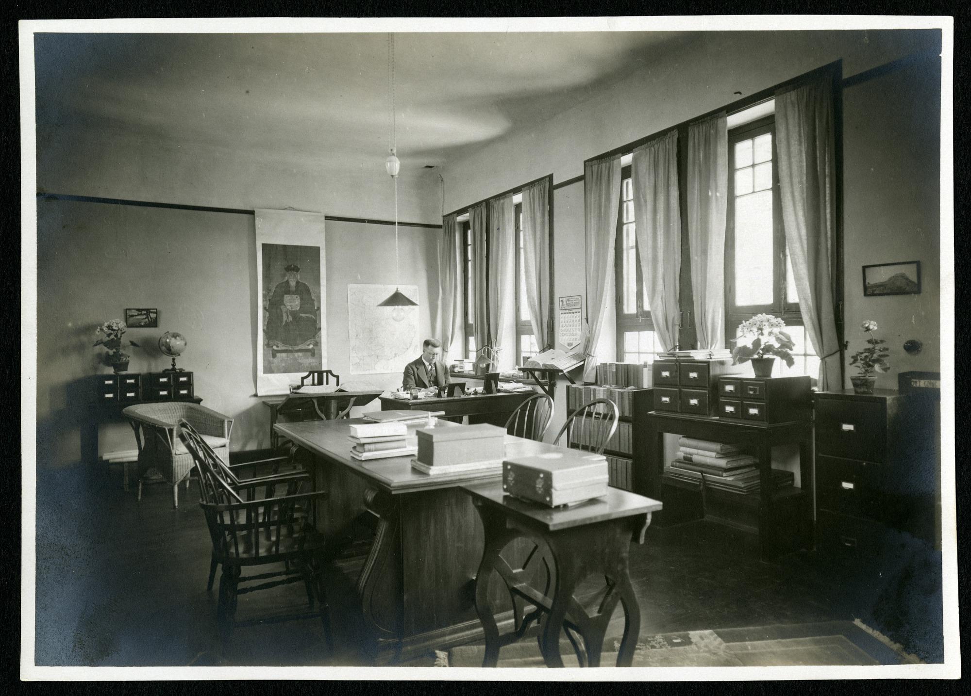 Carl Whiting Bishop in Peking Office