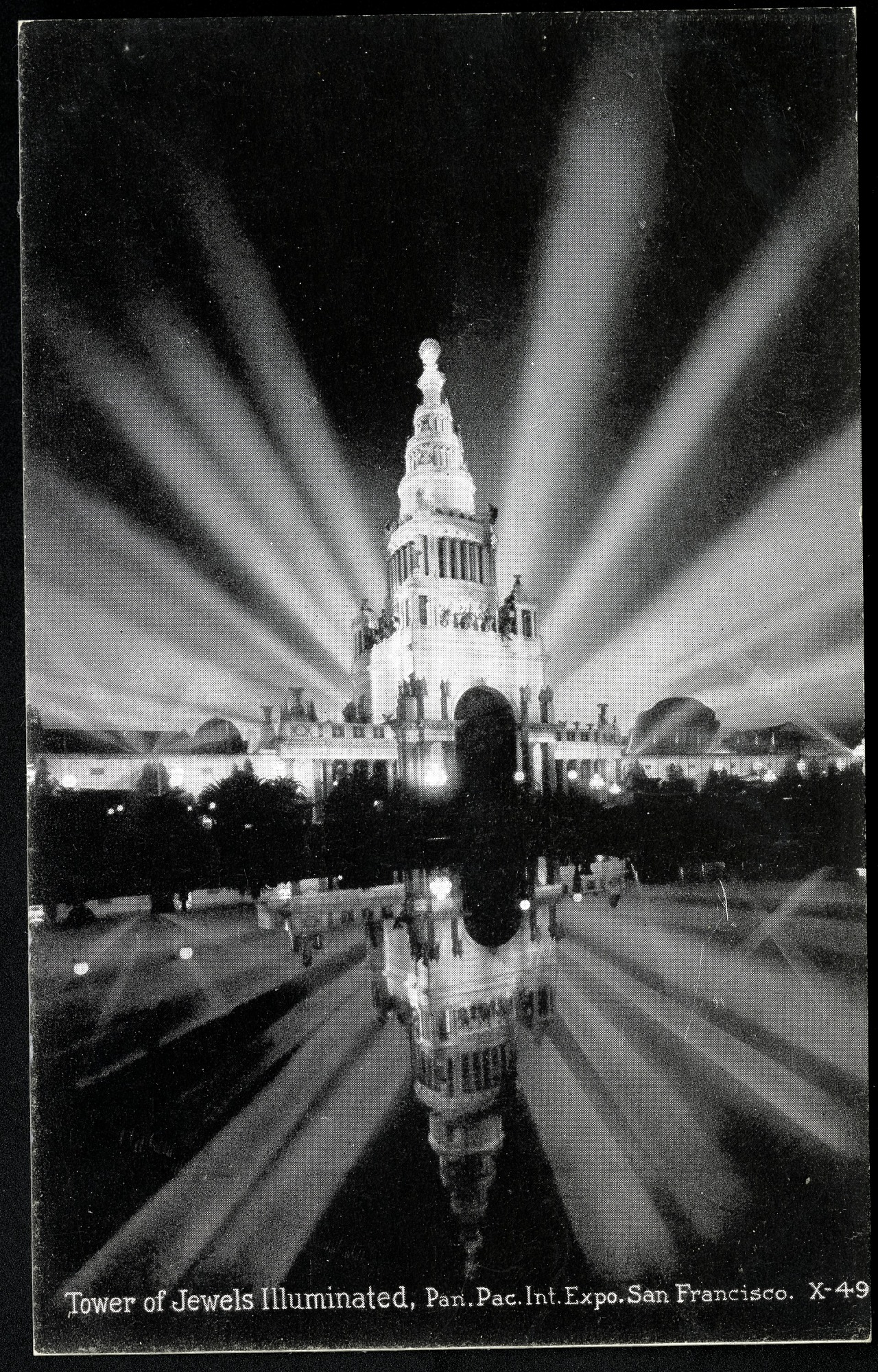 Tower of Jewels Postcard from the Panama-Pacific Exposition