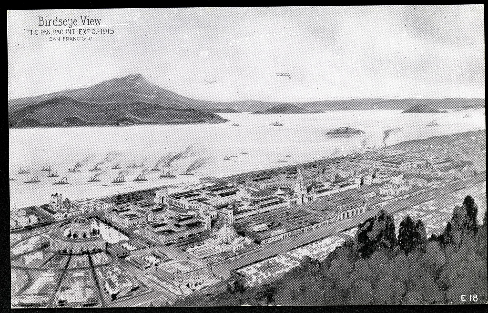Birds-eye View Postcard from the Panama-Pacific Exposition