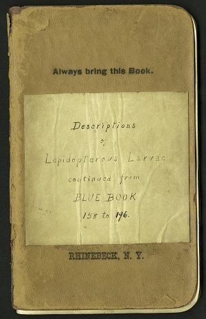 H. G. Dyar bluebook 158 - 196, 1889-1890, Smithsonian Field Book Project, SIA Acc. 12-447.