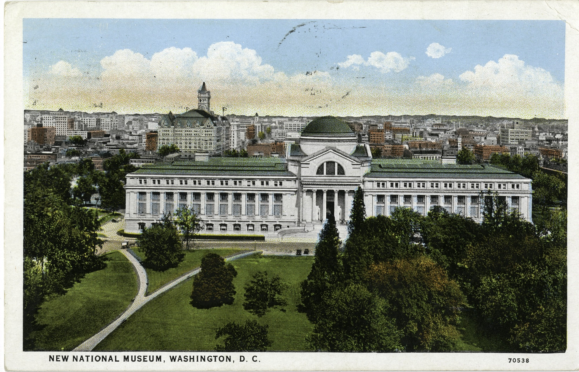 Postcard of New National Museum and DC