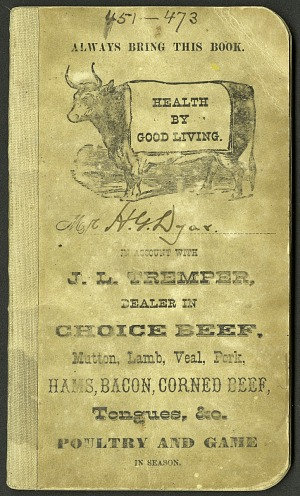 H. G. Dyar bluebook 451 - 473, 1894, Smithsonian Field Book Project, SIA Acc. 12-447.