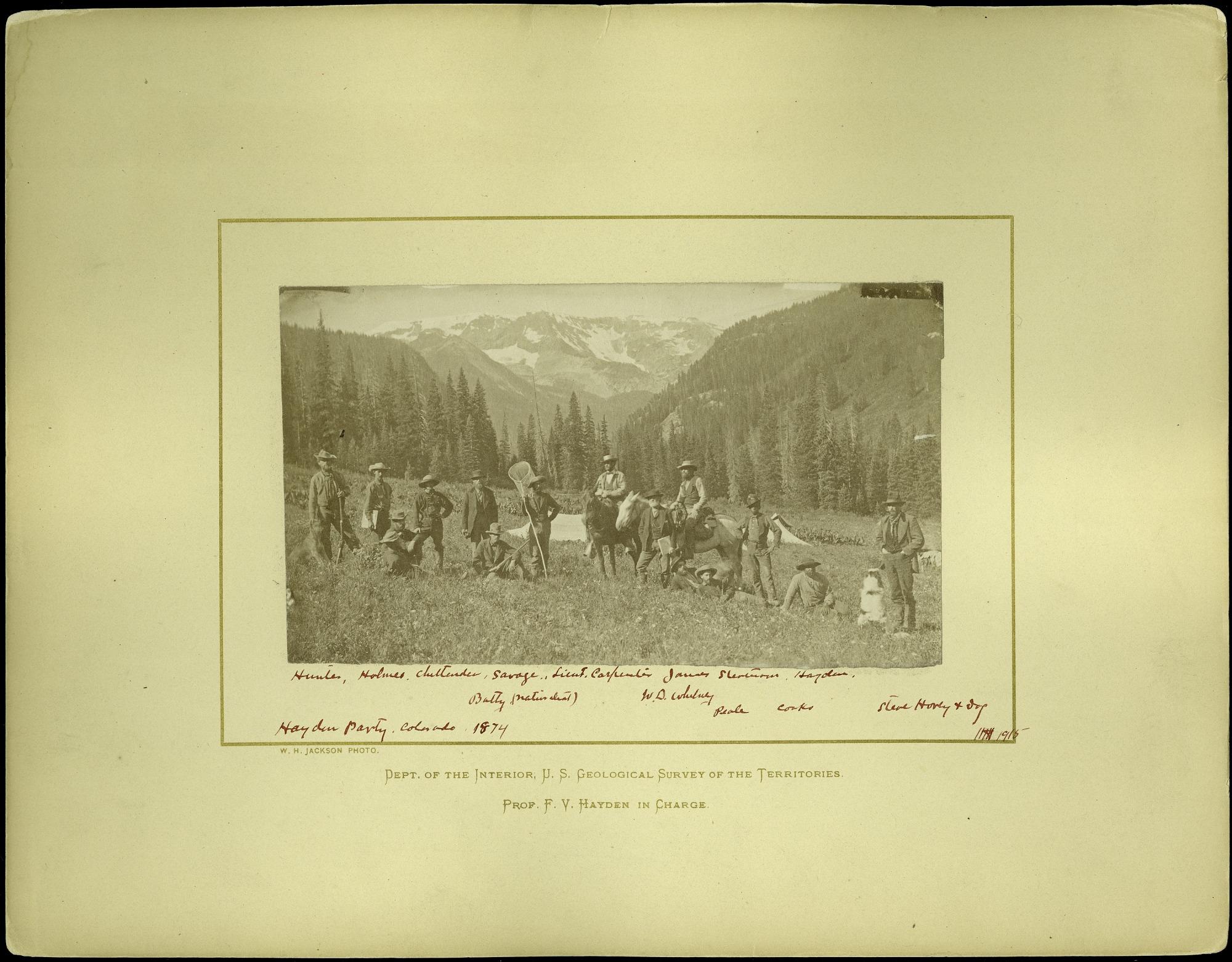 Hayden Survey Party in Colorado, 1874