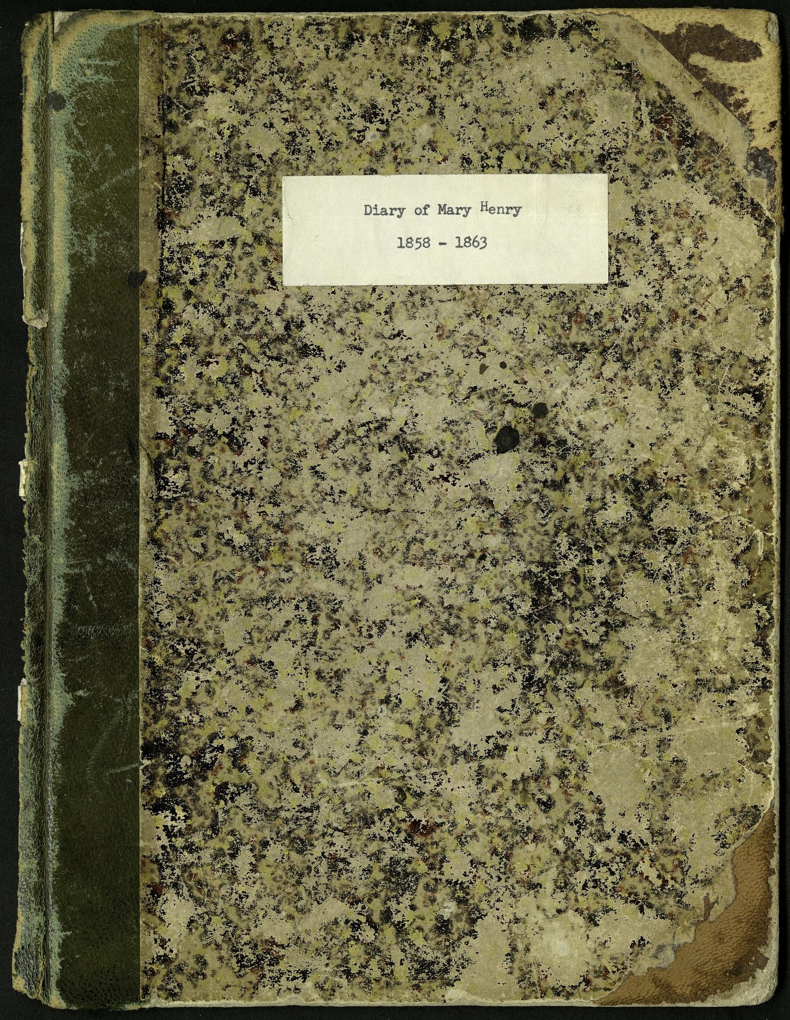 Mary Henry Diary, 1858-1863