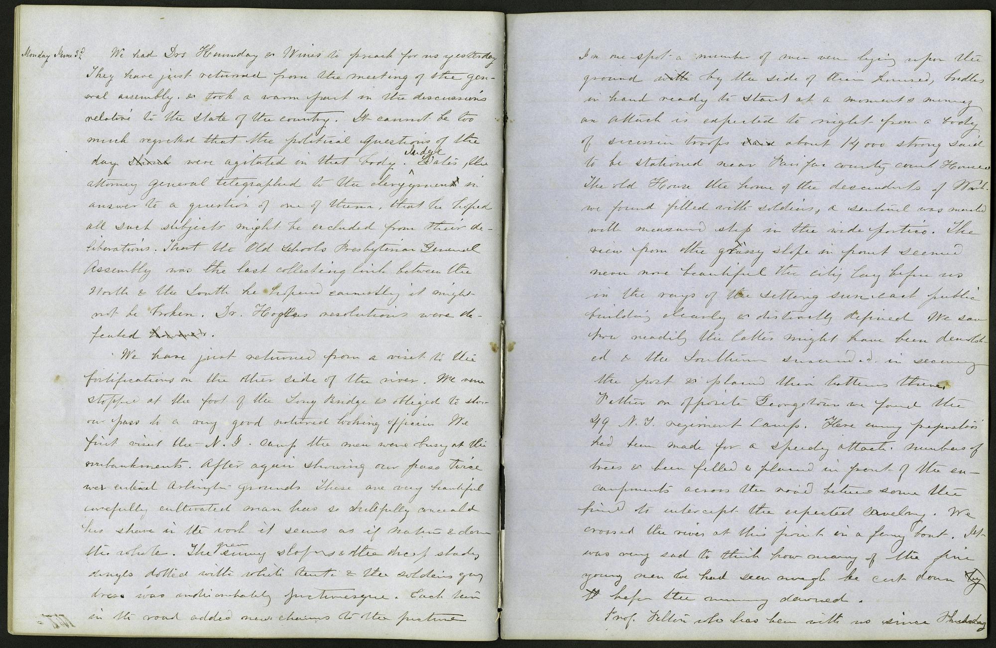 Mary Henry Diary, June 3, 1861