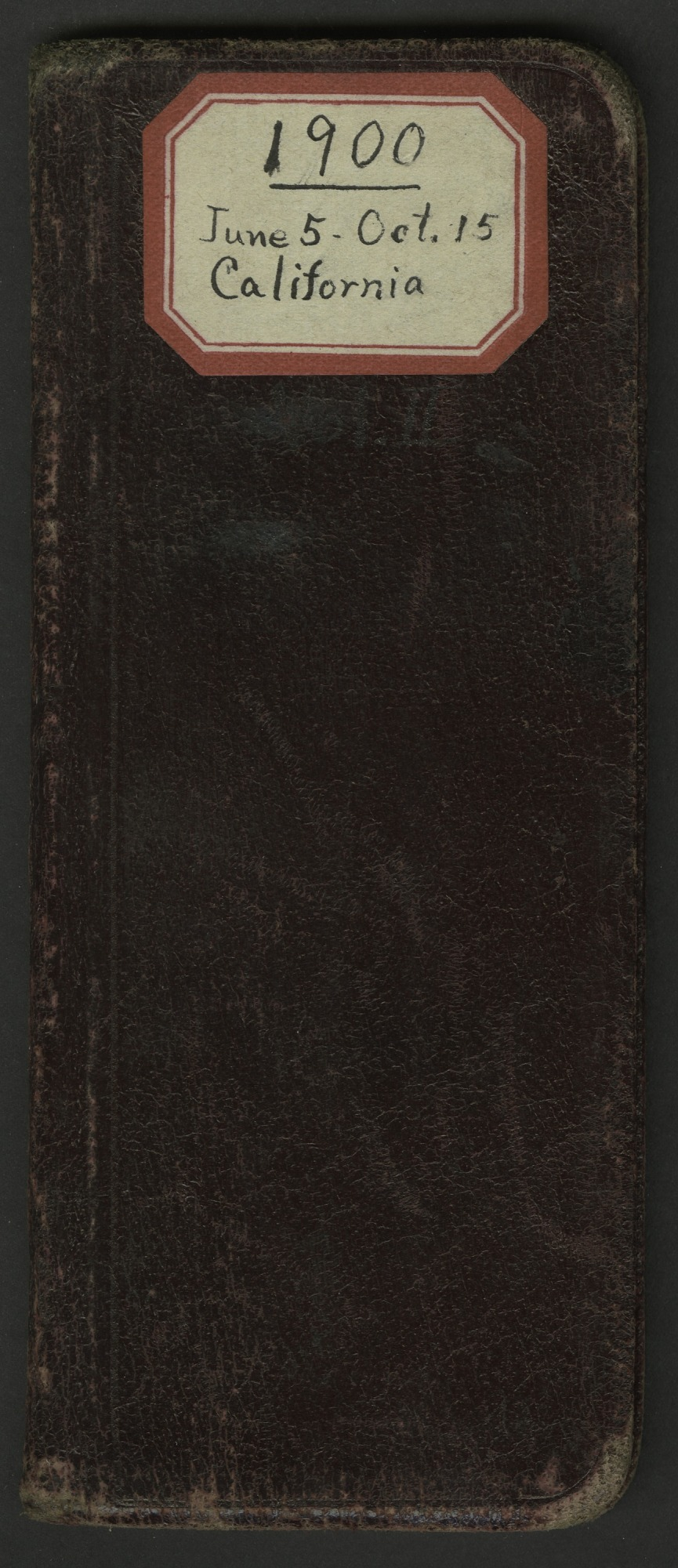 Field notes, Texas and California, June 5-October 15, 1900