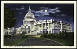 Postcard of the U.S. Capitol at Night