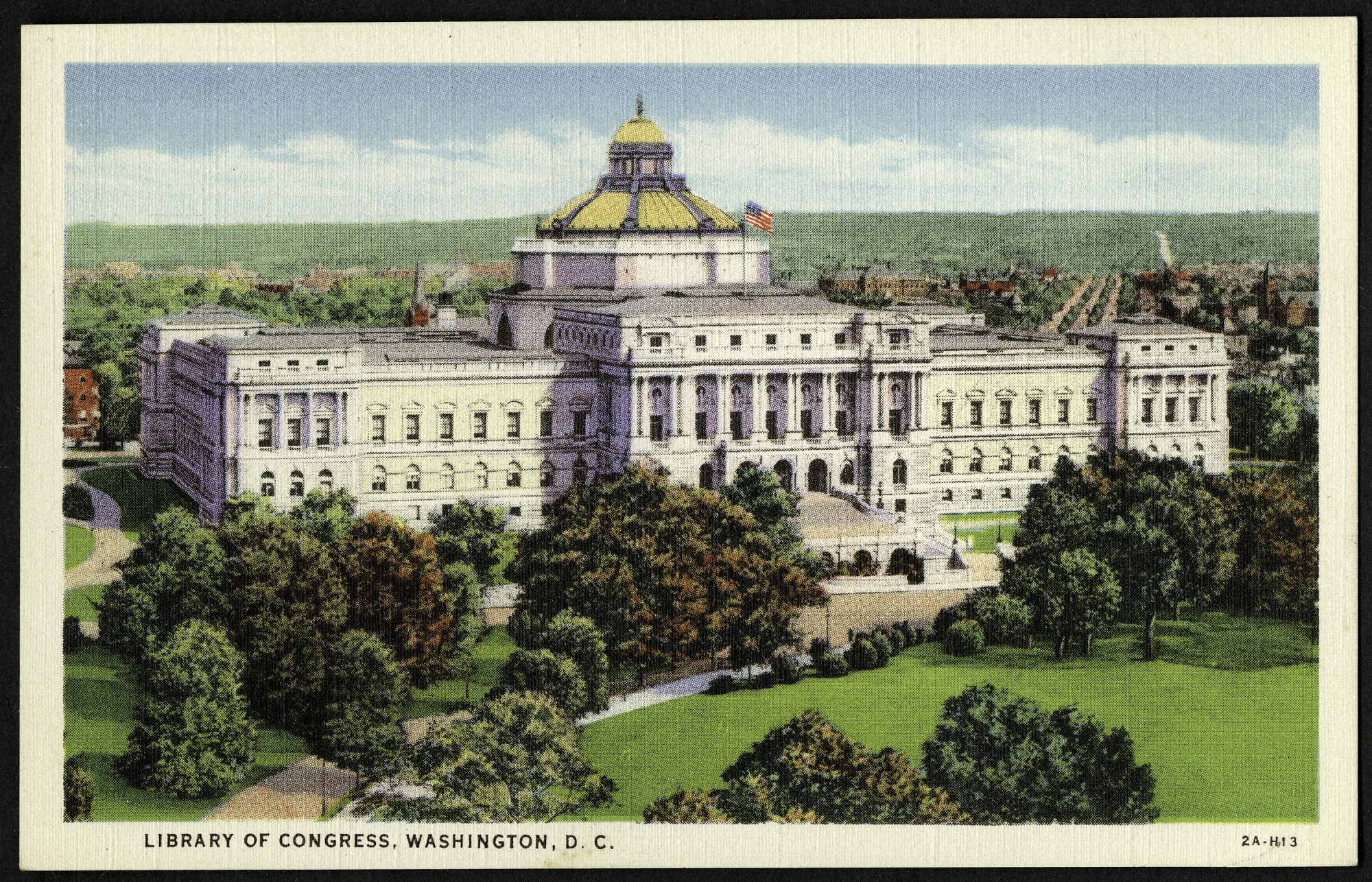 Postcard of the Library of Congress