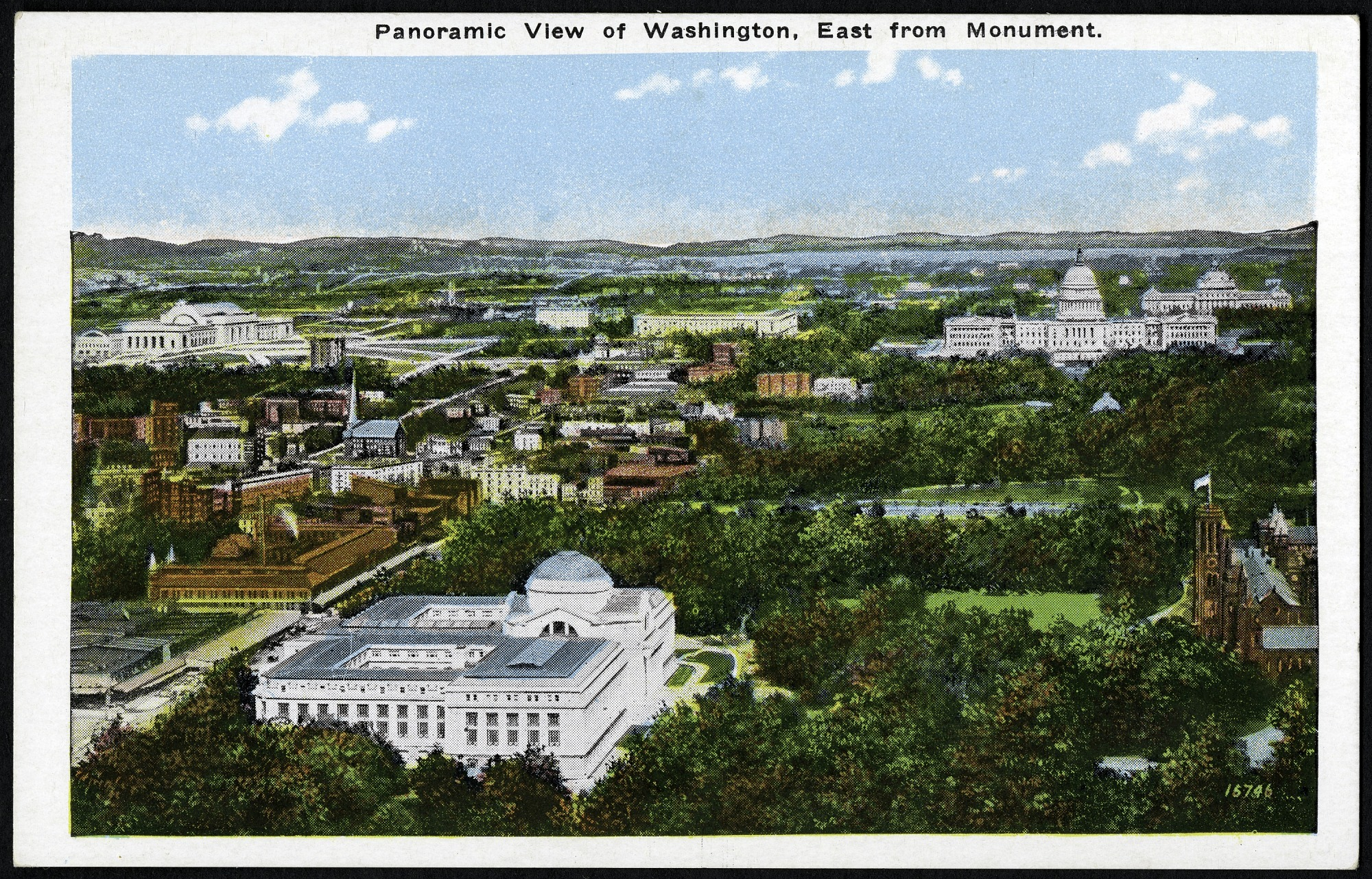 Postcard with a Panoramic View of Washington