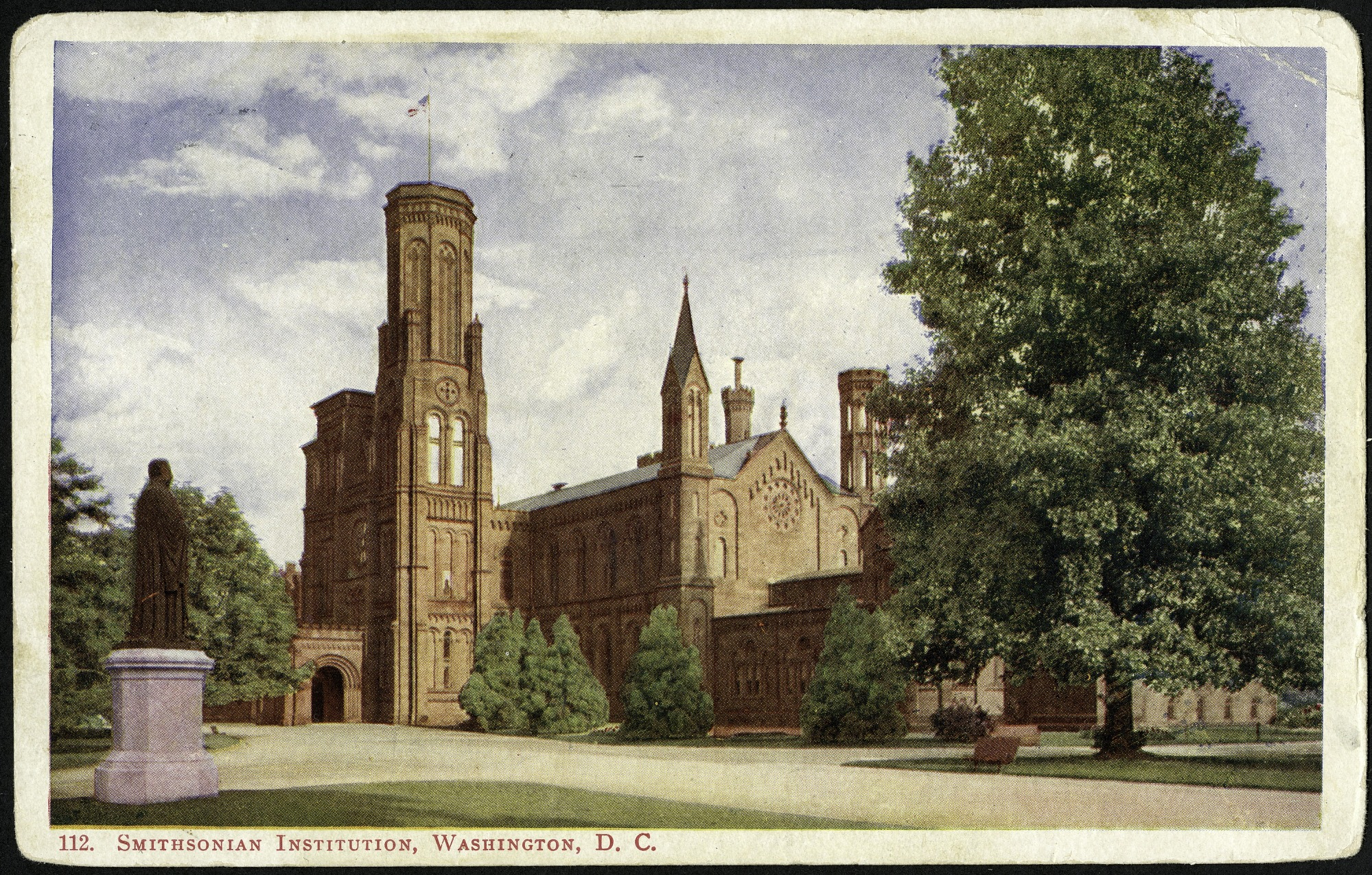 Postcard of the Smithsonian Institution Castle to Mabel Roper