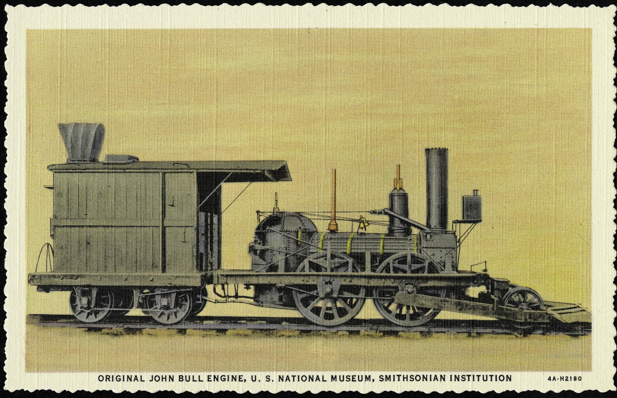 Postcard of the Original John Bull Engine