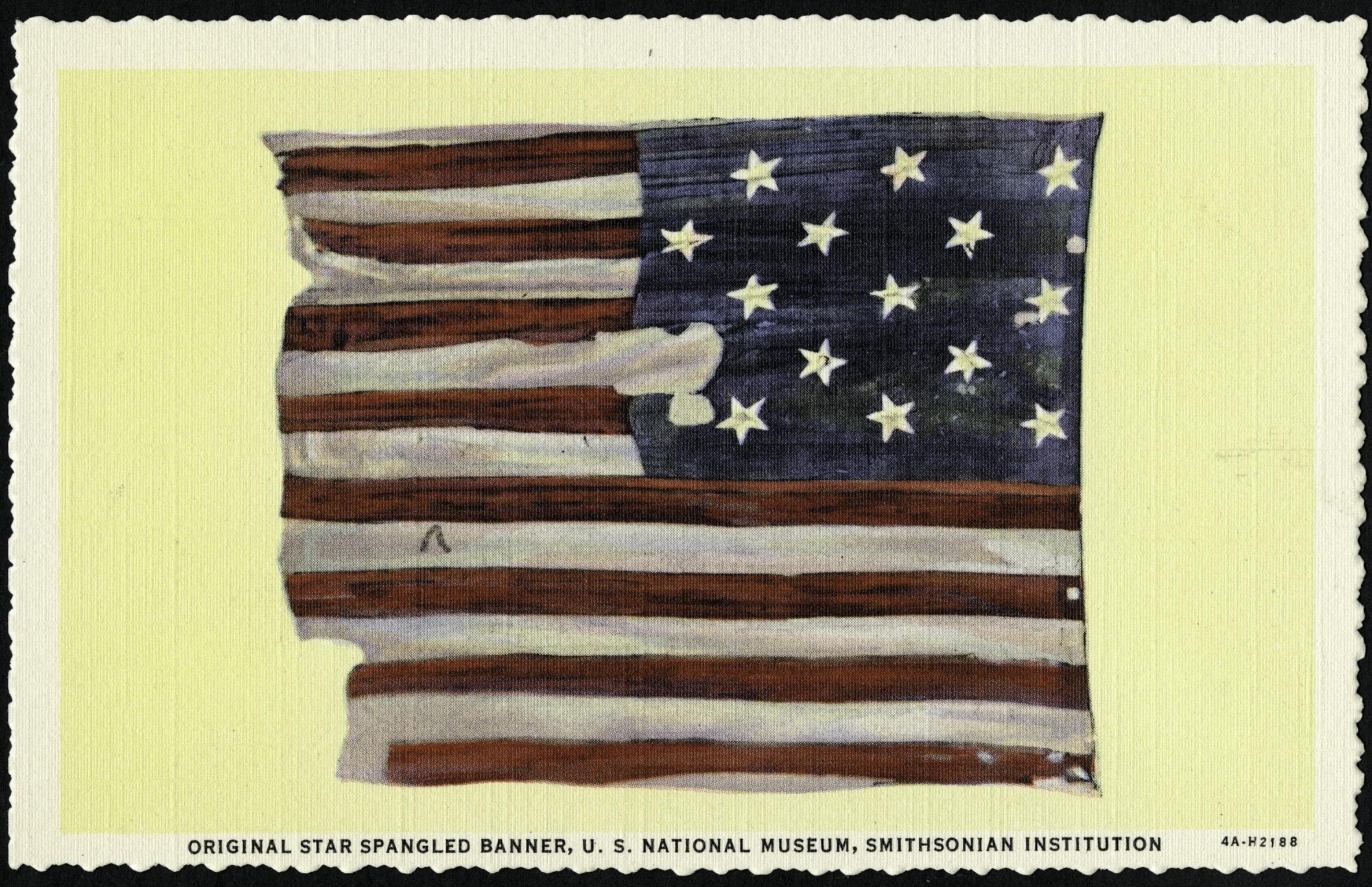 Postcard of the Original Star-Spangled Banner