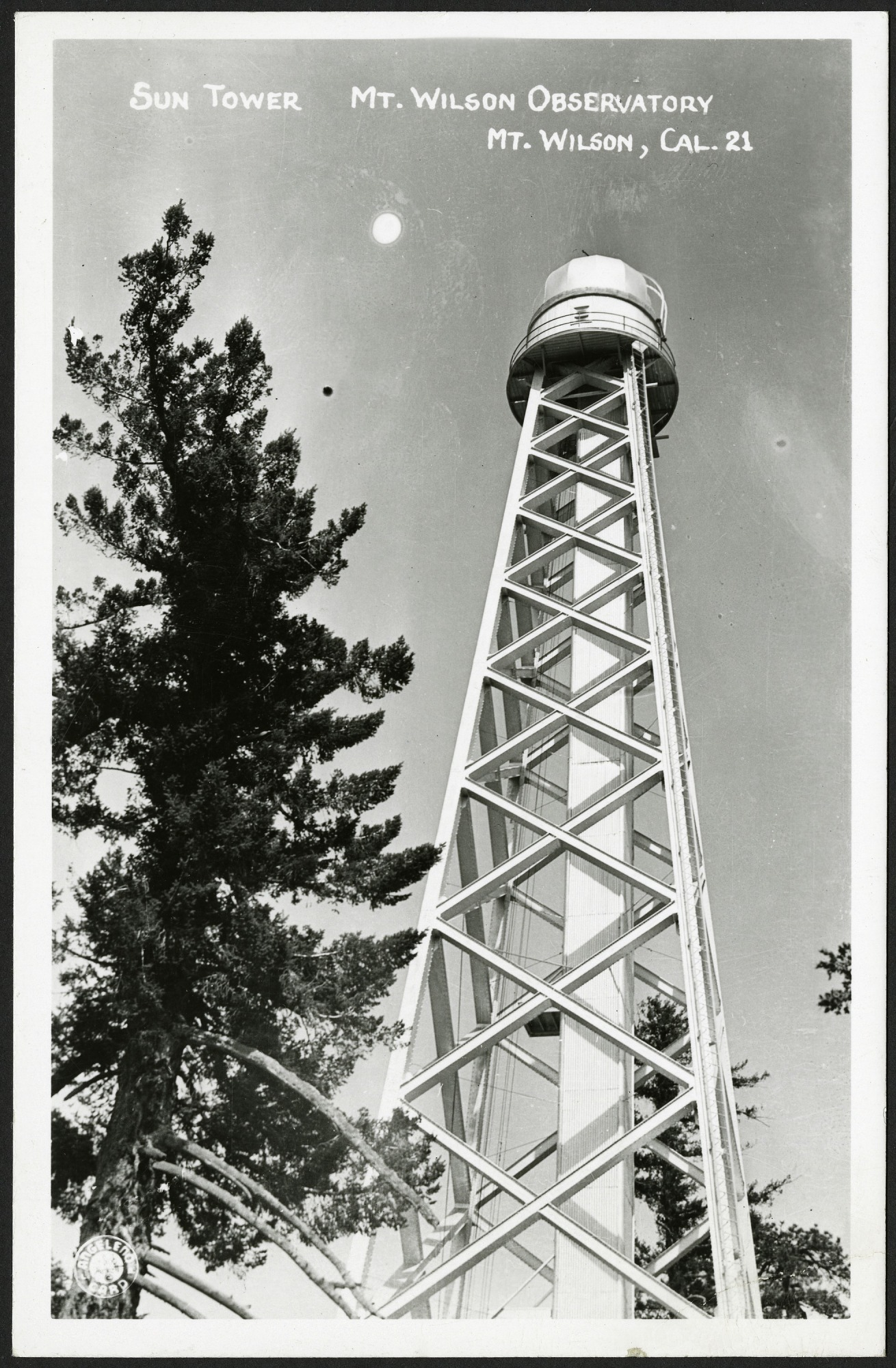 Postcard of Sun Tower at Mt. Wilson