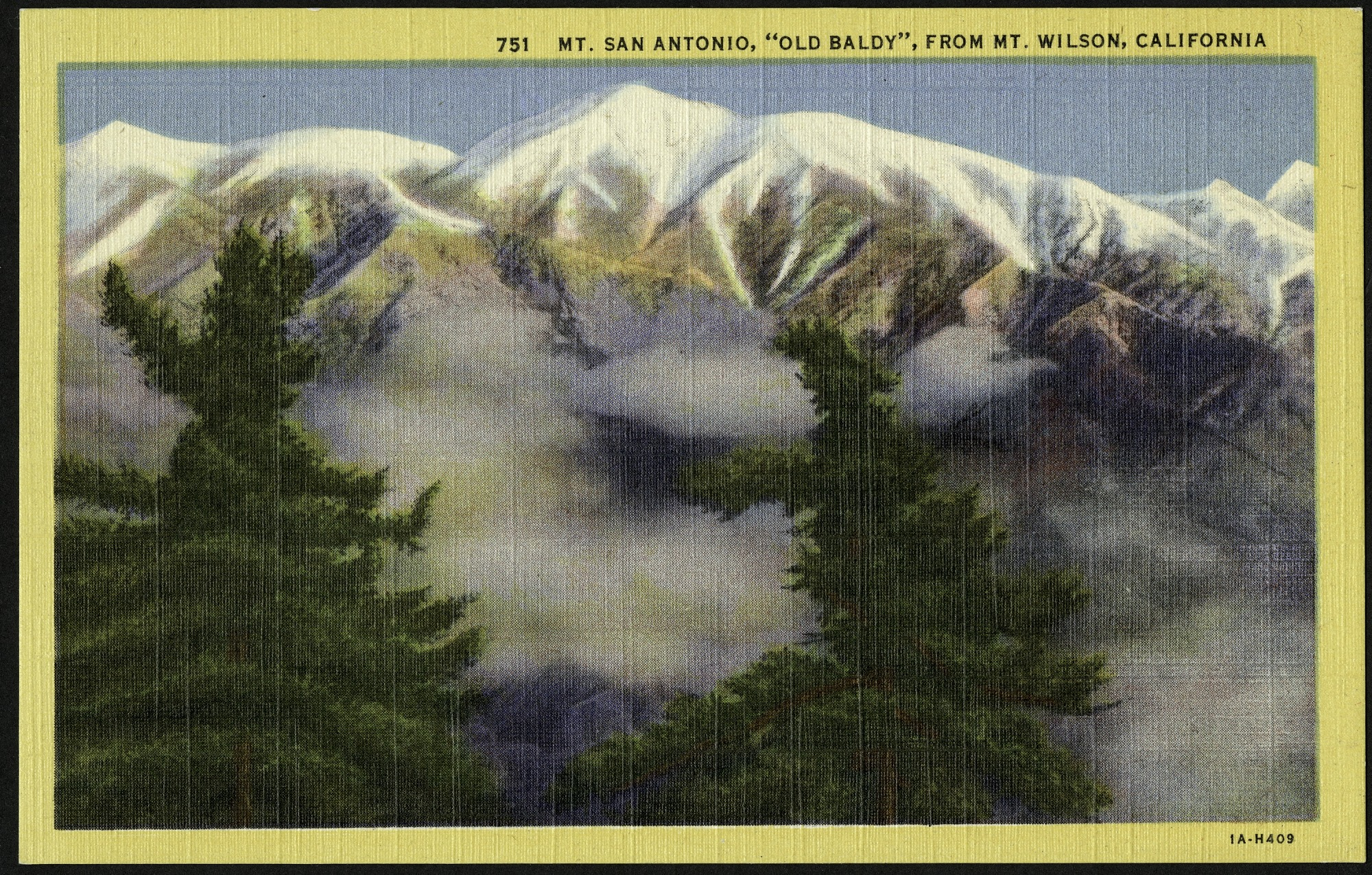 Postcard of Mt. San Antonio
