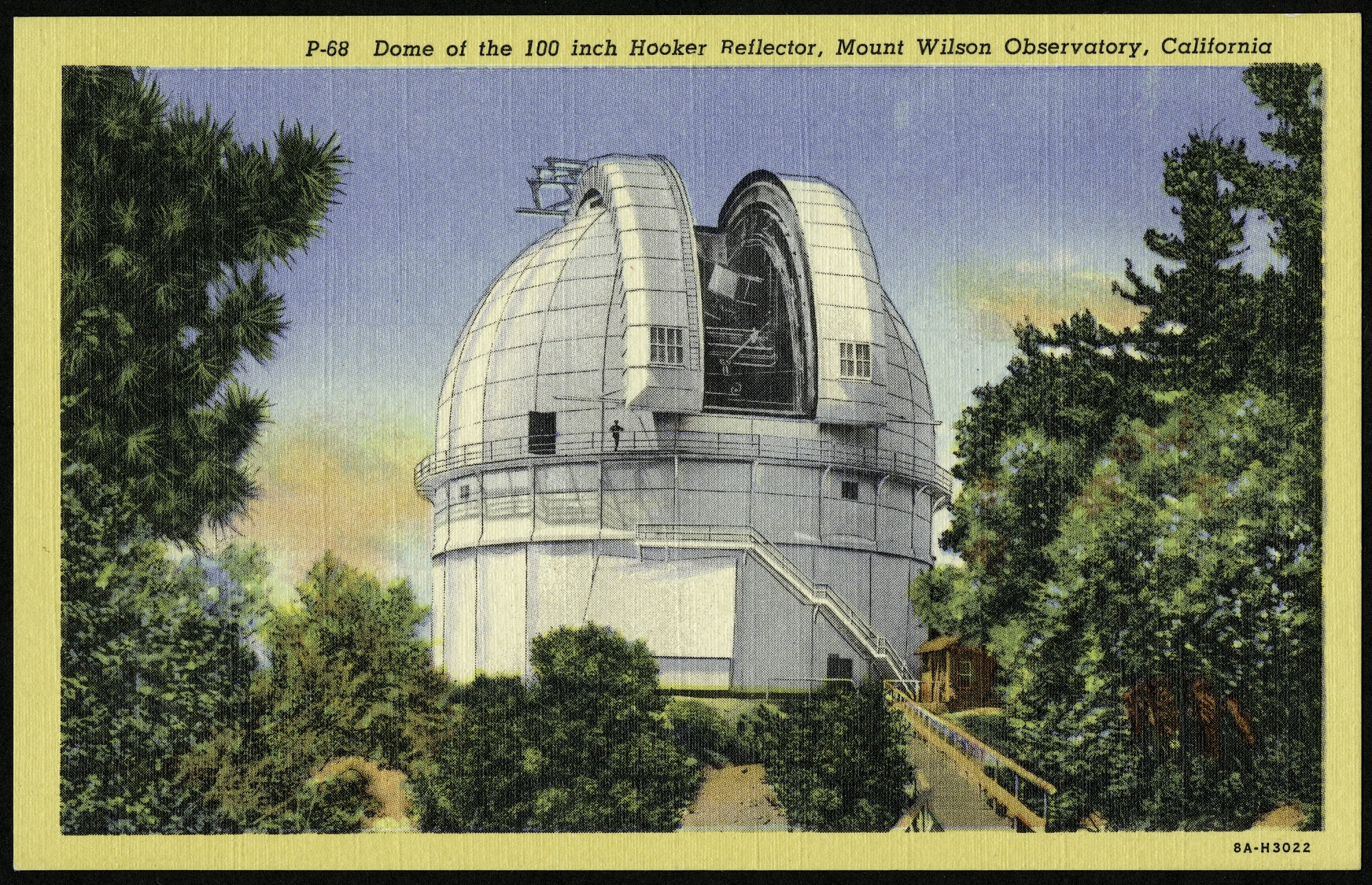Postcard of the Dome at the Mt. Wilson Observatory