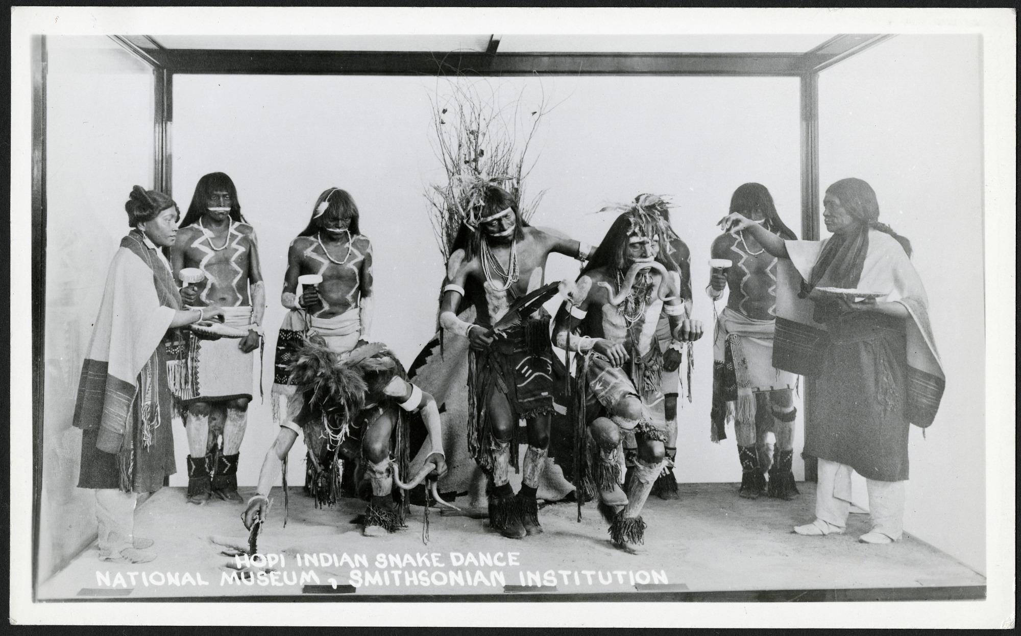 Postcard of Hopi Indian Snake Dance