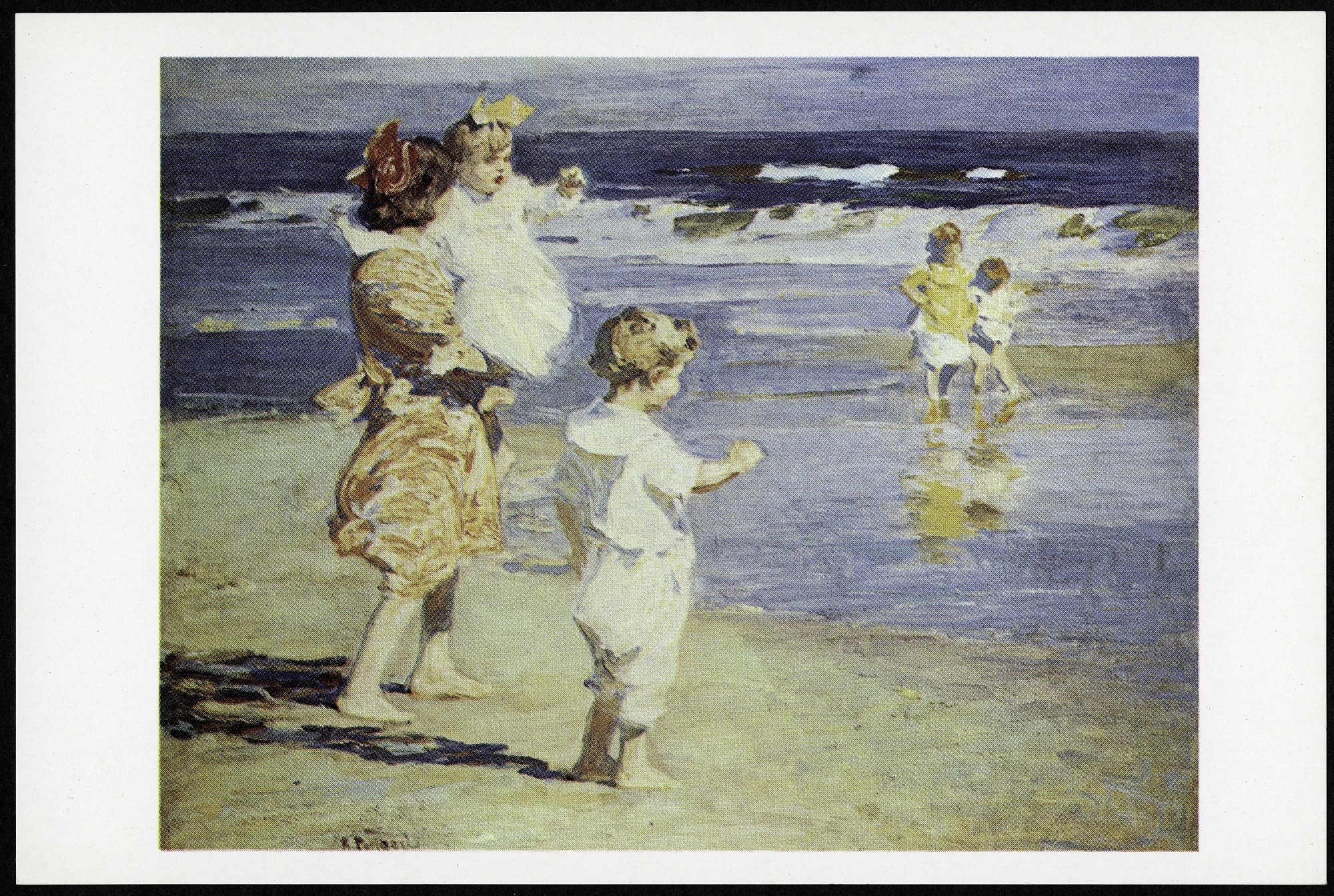 "Postcard of ""Beach Scene"""