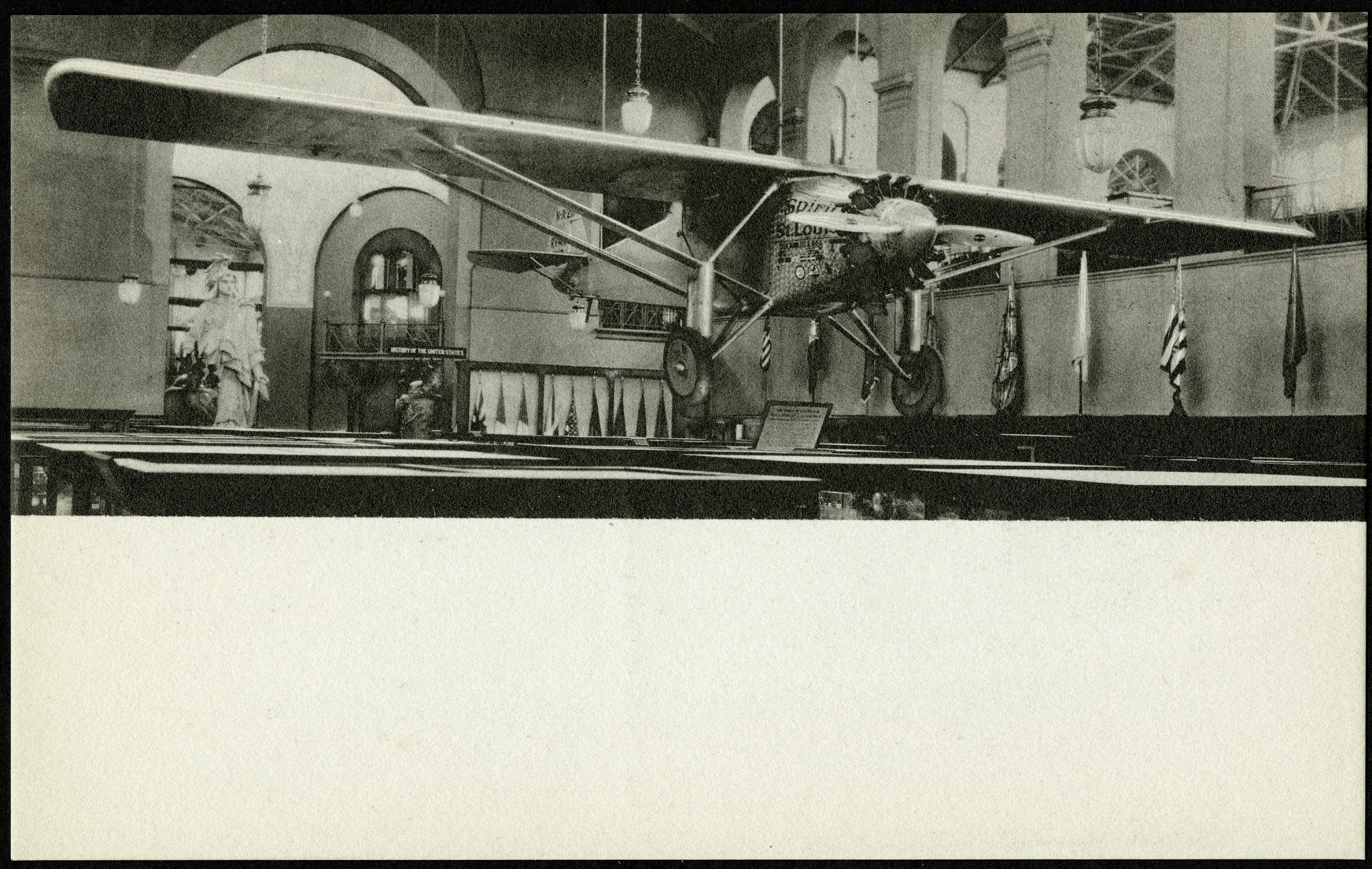 """Postcard of the """"Spirit of St. Louis"""""""