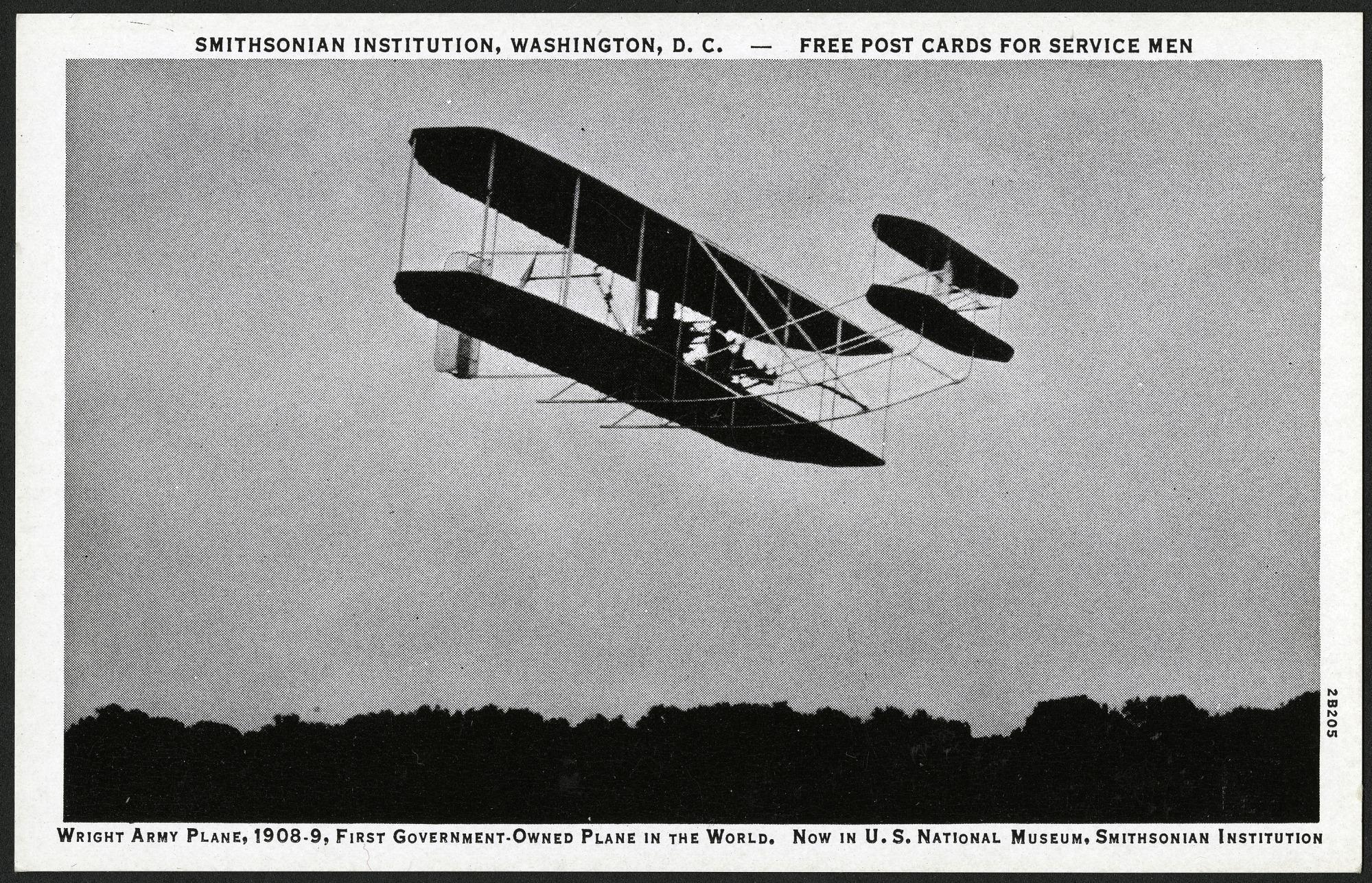 Postcard of Wright Army Plane