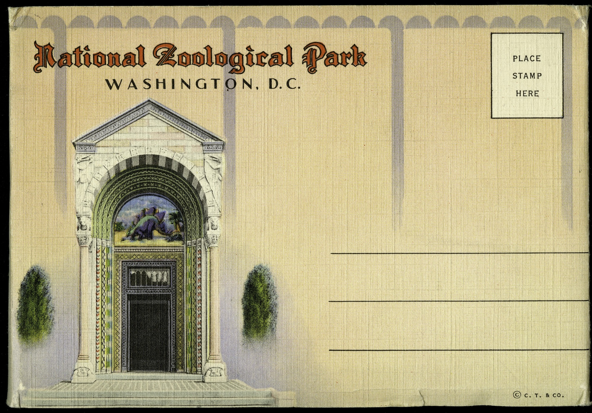 Zoo Postcard Booklet Envelope
