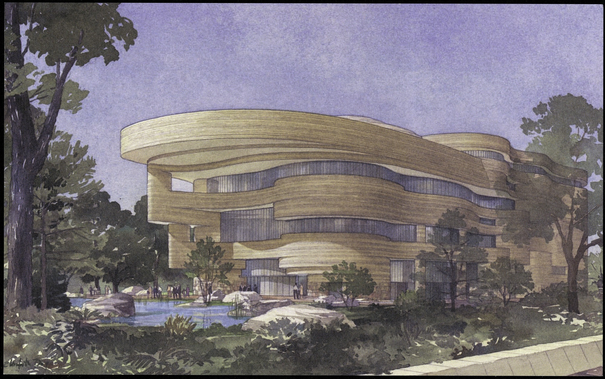 Postcard of the National Museum of the American Indian