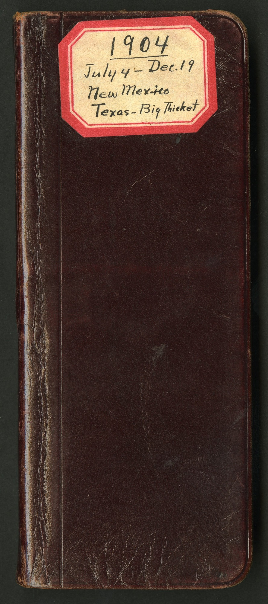 Field notes, Texas and New Mexico, July 4-December 19, 1904