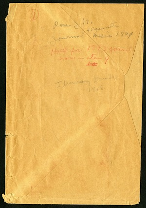 Rose, greenhouse notes, 1915-1917, Smithsonian Field Book Project, SIA Acc. 12-052.