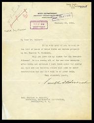 Letter from Franklin D. Roosevelt to Charles D. Walcott